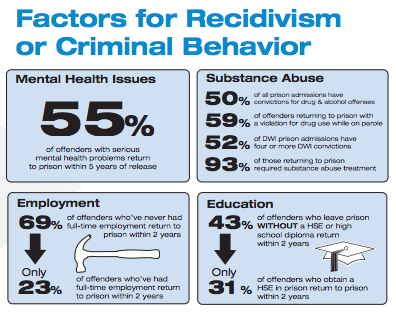 Factors for Recidivism or Criminal Behavior