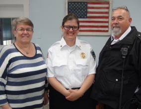Cassandra Richards with Warden Rebecca Ehlers, COII Cassandra Richards, COIII Stanley Knipp