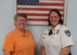 Warden Rebecca Ehlers and CCM Louann Strickland